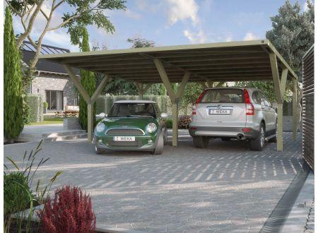 Weka Y-carport Größe:Doppelcarport Ausführung:ohne Dacheindeckung
