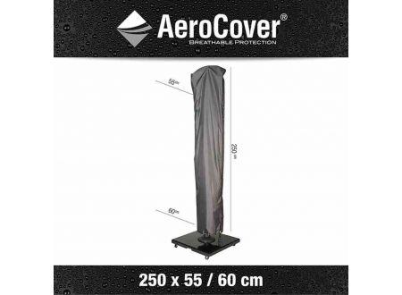 AEROCOVER Atmungsaktive Schutzhülle für Ampelschirme Ø 3,5m Größe:H250x55/60cm