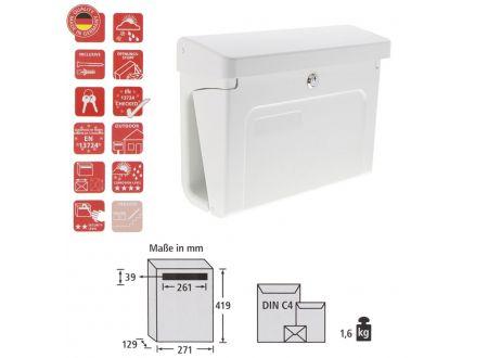 Burg-Wächter Kunststoff-Briefkasten Fehmarn 3888 Farbe:Weiss
