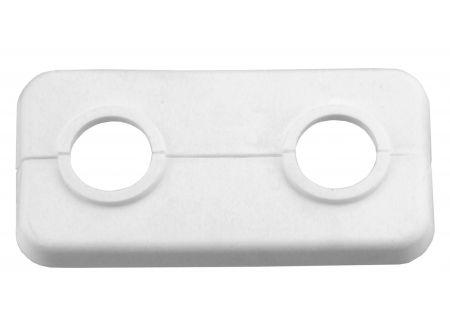 Conmetall-Meister Doppel-Klapprosette weiß Ausführung:18mm