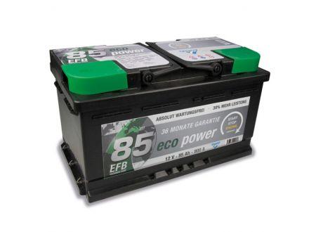 CARTEC Batterie Eco Power EFB 12V Kapazität:85Ah