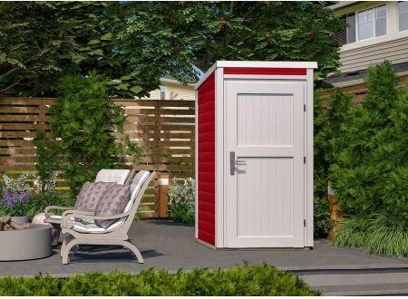 weka Gartenhaus 1x1 Farbe:schwedenrot-weiß