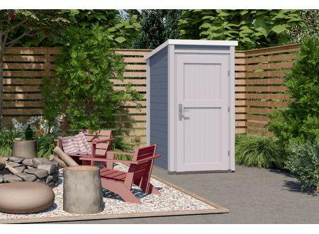 weka Gartenhaus 1x1 Farbe:grau/weiß