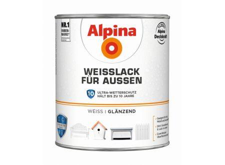 Alpina Weißlack für Außen Menge:2l Ausführung:glänzend