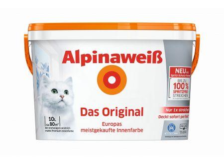 Alpina Farben Alpinaweiß Das Original spritzfrei matt Menge:10l