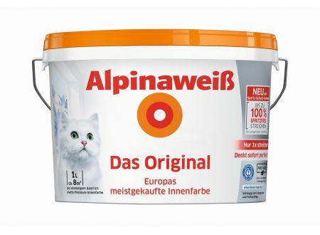 Alpina Farben Alpinaweiß Das Original spritzfrei matt Menge:12l