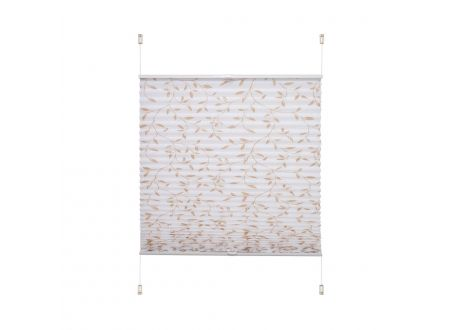 Liedeco Klemmfix-Plissee verspannt Blätter Breite:60cm Länge:130cm Farbe:beige/weiß