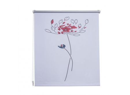 Liedeco Klemmfix-Rollo VD Breite:120cm Länge:150cm Farbe:Blume