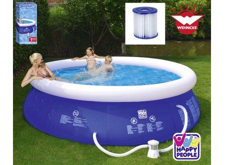 Quick Up Pool Set mit 300 gal Filterpumpe Größe:360x76cm