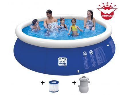 Quick Up Pool Set mit 300 gal Filterpumpe Größe:420x84cm