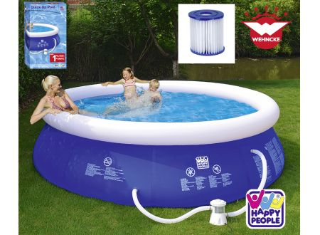 Quick Up Pool Set mit 300 gal Filterpumpe Größe:300x76cm