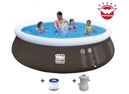 Quick Up Pool Set mit 300 gal Filterpumpe Größe:396x84cm