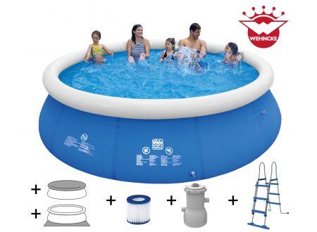 Quick Up Pool  Set mit 530 gal Filterpumpe Größe:450x90cm