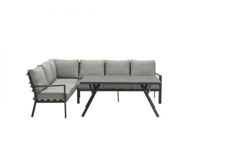 Sergio Lounge-Dining-Set carbon Ausführung:links
