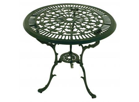 FRG Tisch Jugendstil rund, Aluguss Farbe:dunkelgrün