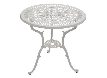 FRG Tisch Jugendstil rund, Aluguss Farbe:weiß