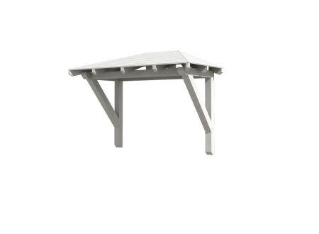Skan Holz Vordach Wismar 1 Walmdach Farbe:weiß
