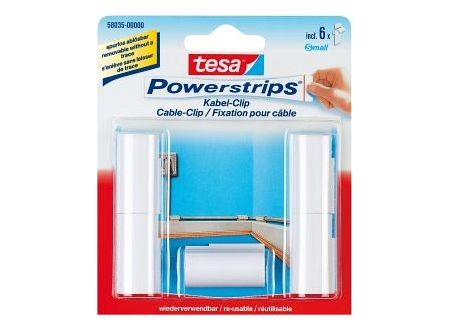 tesa powerstrips kabel clip kaufen. Black Bedroom Furniture Sets. Home Design Ideas