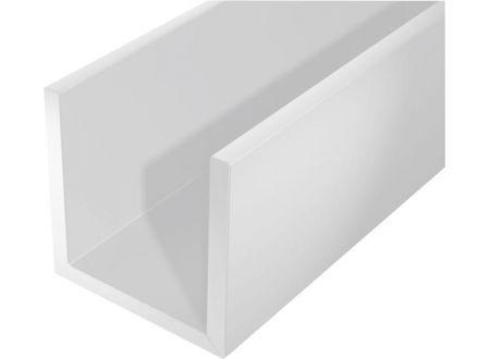 gah u profil kunststoff 2000 12x10mm wei kaufen. Black Bedroom Furniture Sets. Home Design Ideas