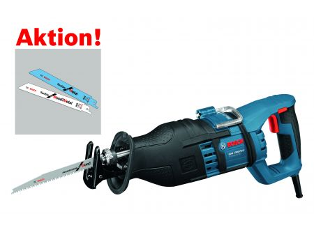 Bosch Säbelsäge GSA 1300 PCE, mit 20 Säbelsägeblättern bei handwerker-versand.de günstig kaufen