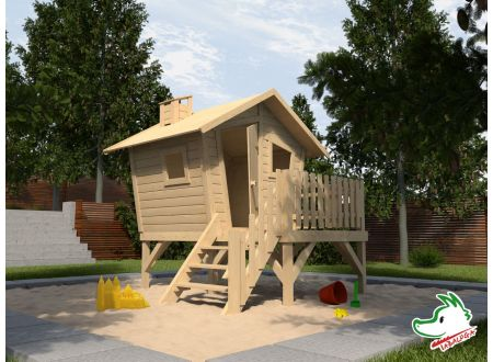 Tabaluga Abenteuerhaus LOTTI mit Treppe bei handwerker-versand.de günstig kaufen