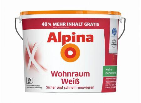Alpina Wohnraumweiß 14 Liter bei handwerker-versand.de günstig kaufen