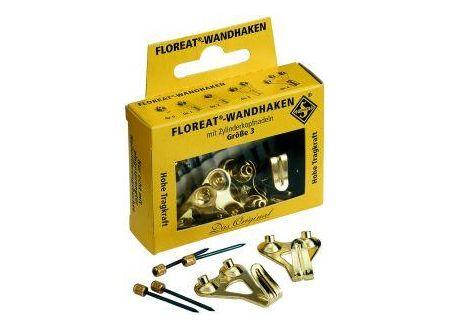 Floreat Wandhaken mit Zylinderkopfnadeln vermessingt bei handwerker-versand.de günstig kaufen