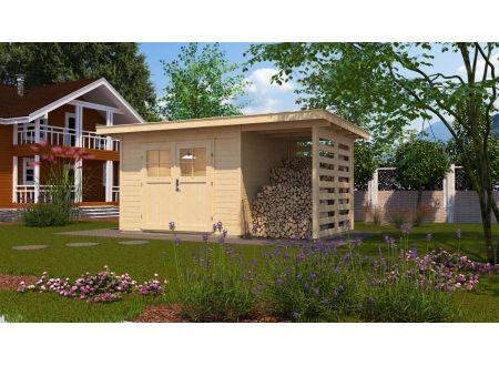 Gartenhaus 179 A mit Anbau 150 cm bei handwerker-versand.de günstig kaufen