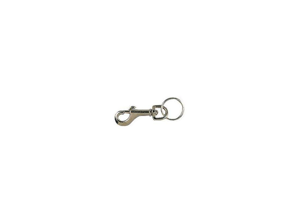 Schlüsselkarabinerhaken vernickelt 12 X 78mm mit Schlüsselring 2