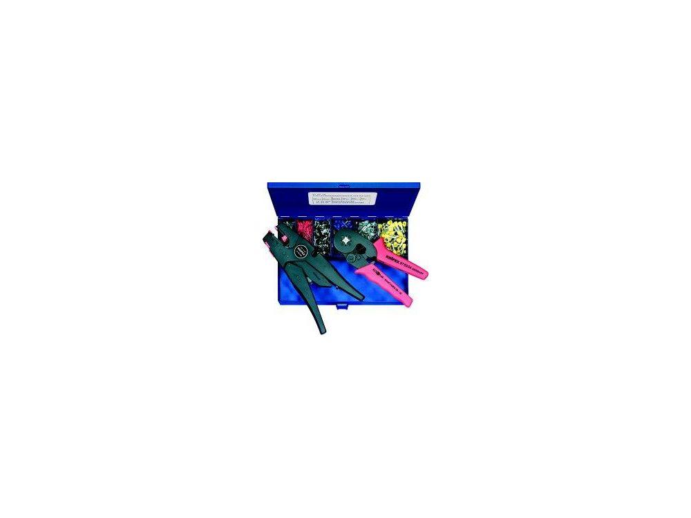 Crimpzange Aderendhülsen 0.08 bis 10mm² Inkl. Abisolierzange, Aderendhülsensortiment im Kof jetztbilligerkaufen