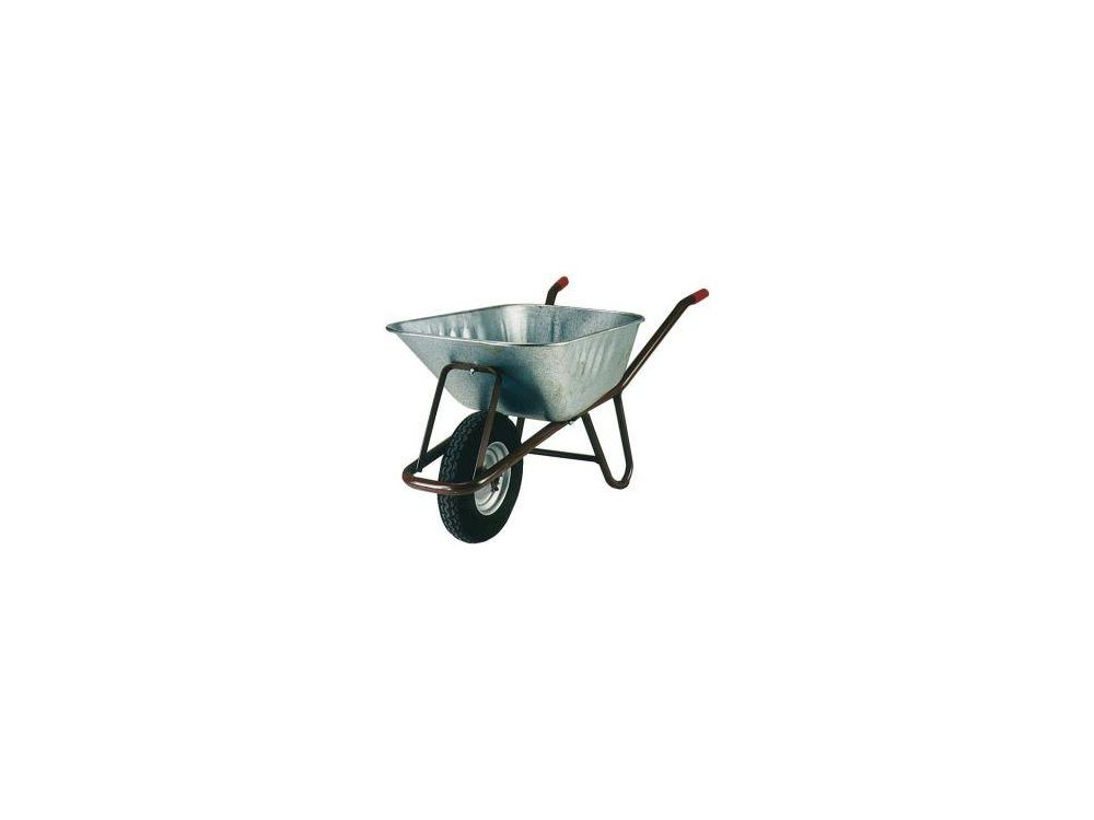 MÜBA Tiefenmuldenkarre 90 l mit Luftrad Schubkarre Betonkarre Tiefmuldenkarre