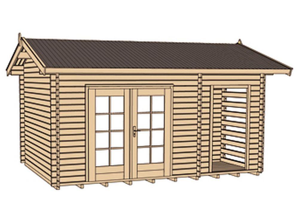 gartenhaus 150 mit holzlager und ger teraum kaufen