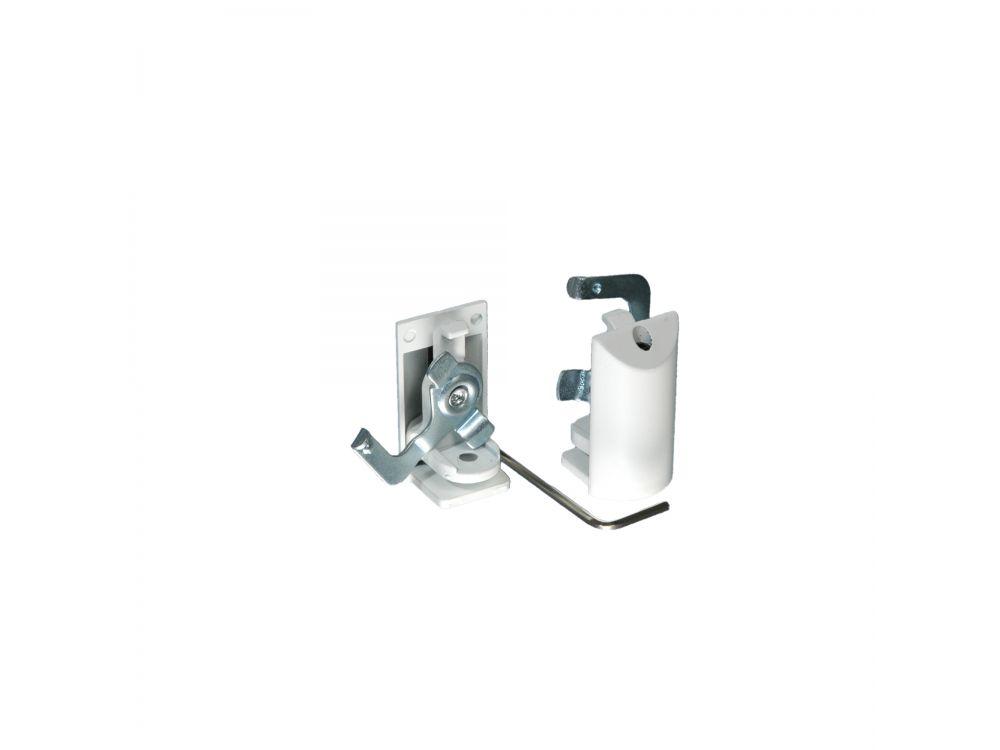 Klemmträger für Alu Jalousien Aluminiumjalousien ohne Bohren 2 Stück weiß