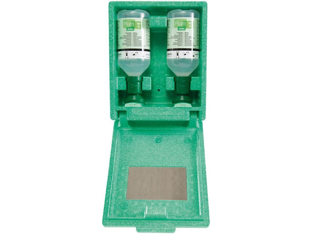 plum augensp lstation inkl 2 flaschen 500 ml wandbox spiegel 1 kaufen. Black Bedroom Furniture Sets. Home Design Ideas