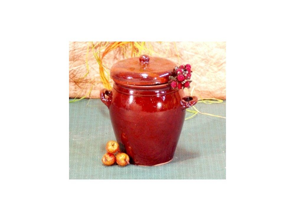 Steinzeug-Gärtopf 5 Liter (Deckel + Wasserrinne)