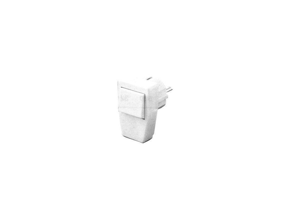 Schuko-Stecker mit Kontroll-Lampe, weiß