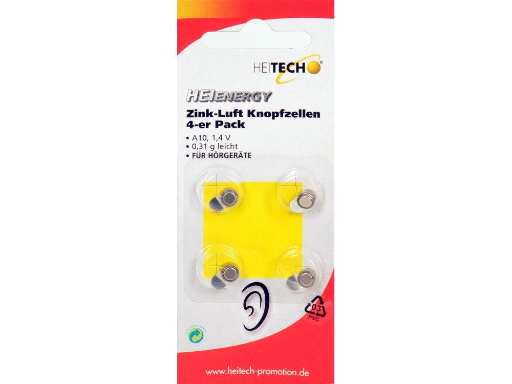 Zink-Luft Knopfzellen 4er Pack 90mAh