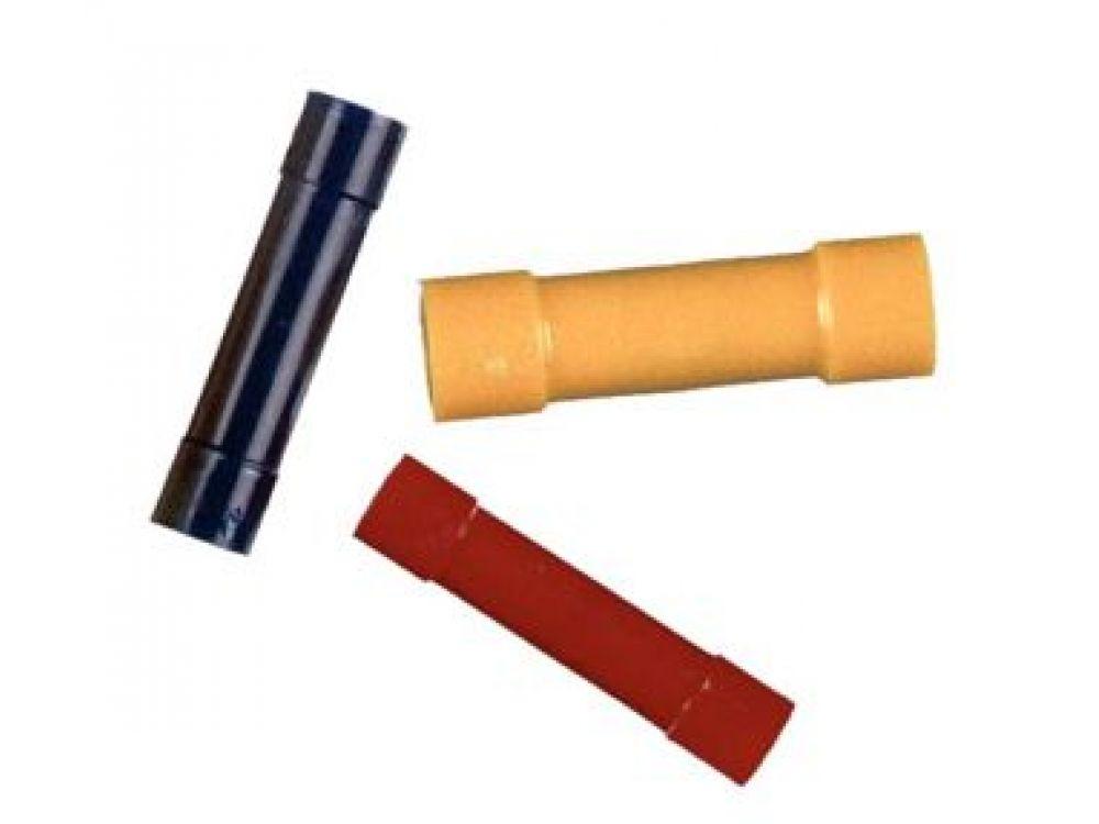 Stoßverbinder je 3 rot, blau, gelb