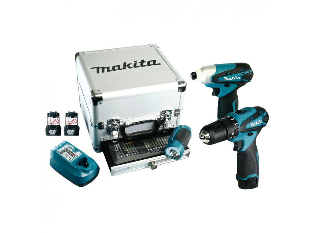 makita combo kit 10 8v akku schlagbohrschrauber hp330d. Black Bedroom Furniture Sets. Home Design Ideas