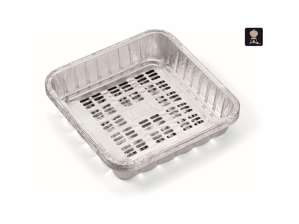 Grillpfannen für Gemüse aus Aluminium (ca. 20x20cm) 4 Stück
