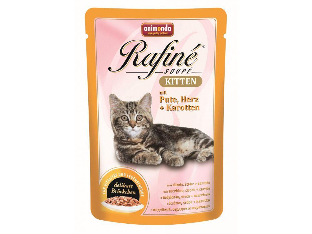 Animonda Cat Rafiné Soupé Kitten mit Pute, Herz...