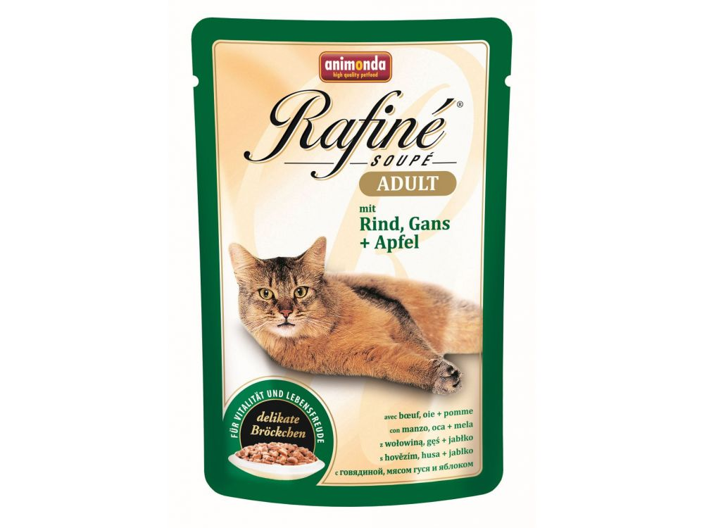 Animonda Cat Rafiné Soupé Adult Pouch mit Rind,...