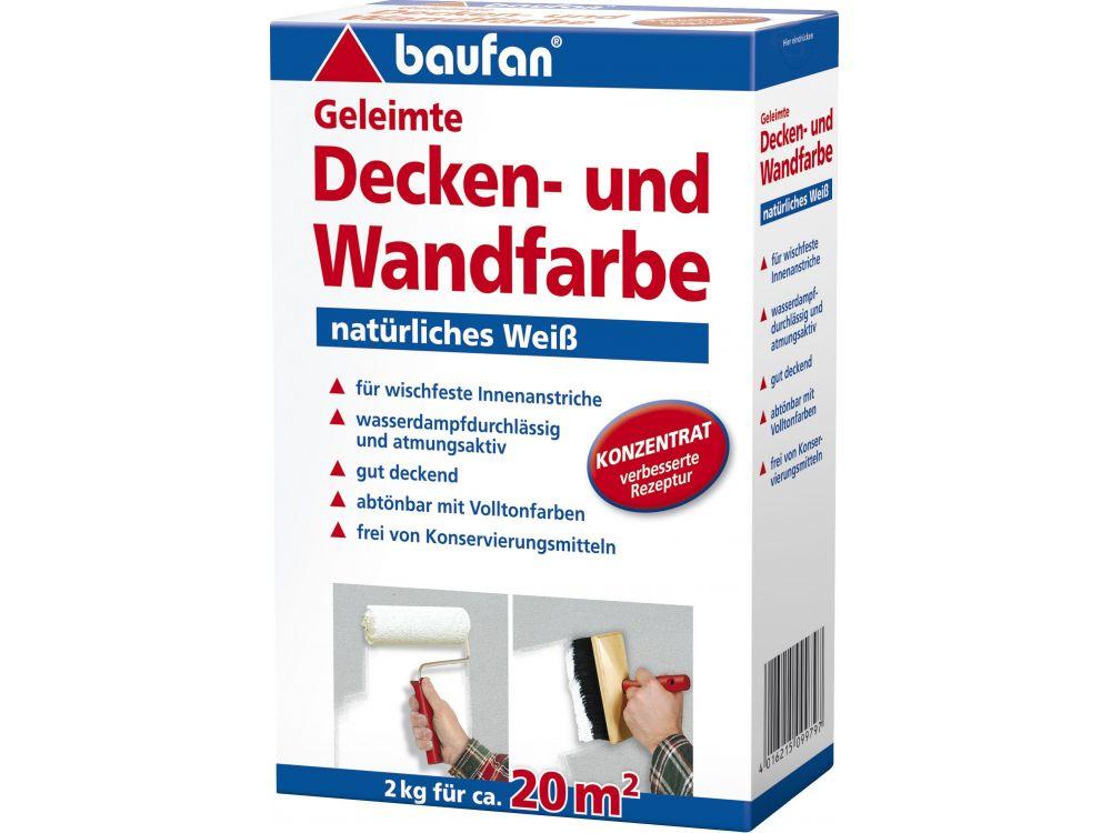 Baufan Geleimte Decken- und Wandfarbe