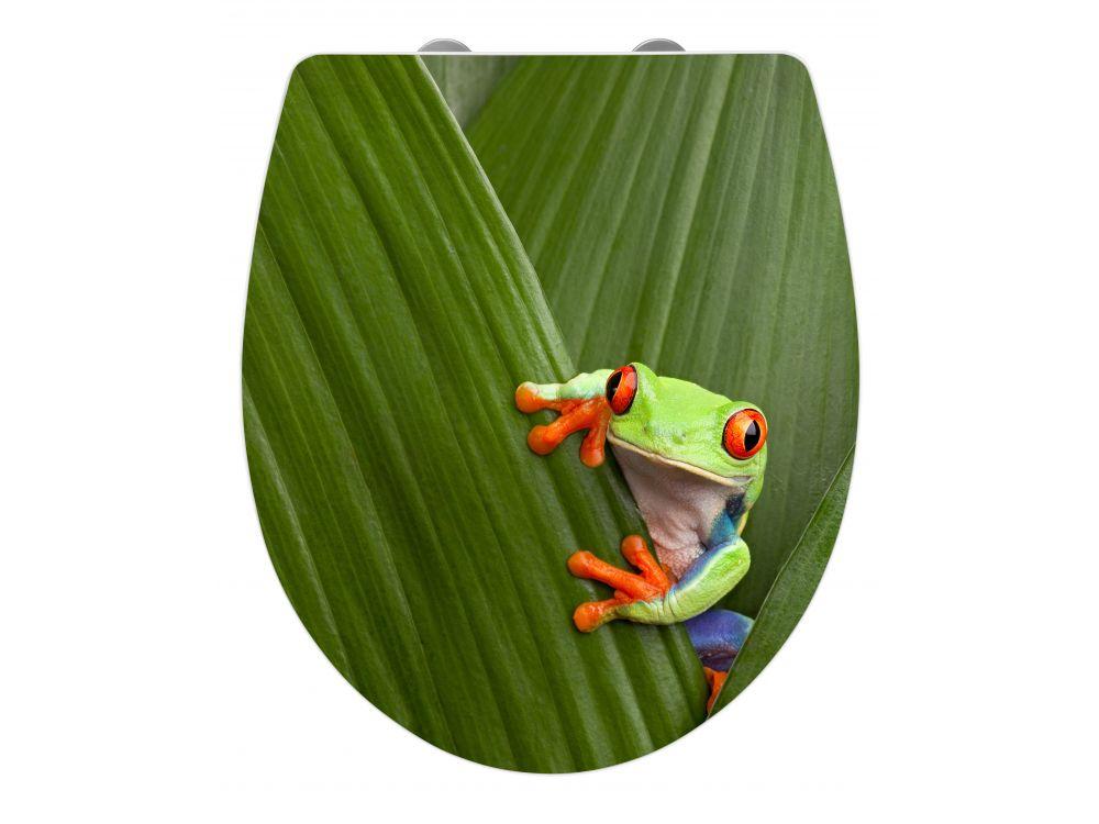 wenko wc sitz frog duroplast acryl kaufen. Black Bedroom Furniture Sets. Home Design Ideas