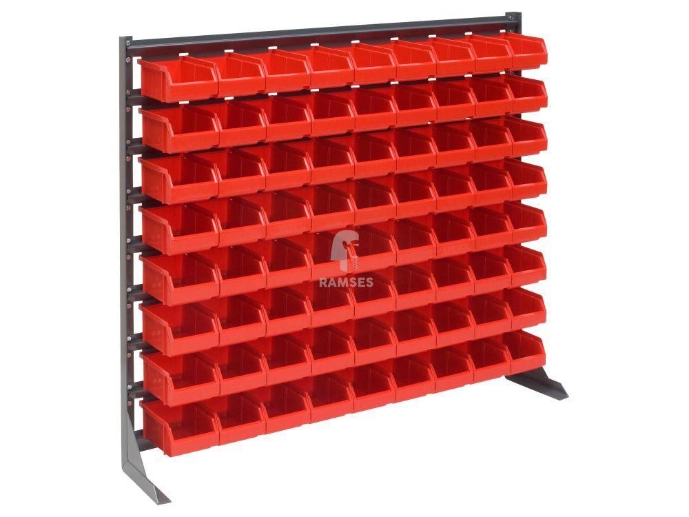 Ramses Lagerbox Regal Mit 72 Roten Lagerboxen Größe 4 Höhe: 90 Cm Breit Bei  Handwerker