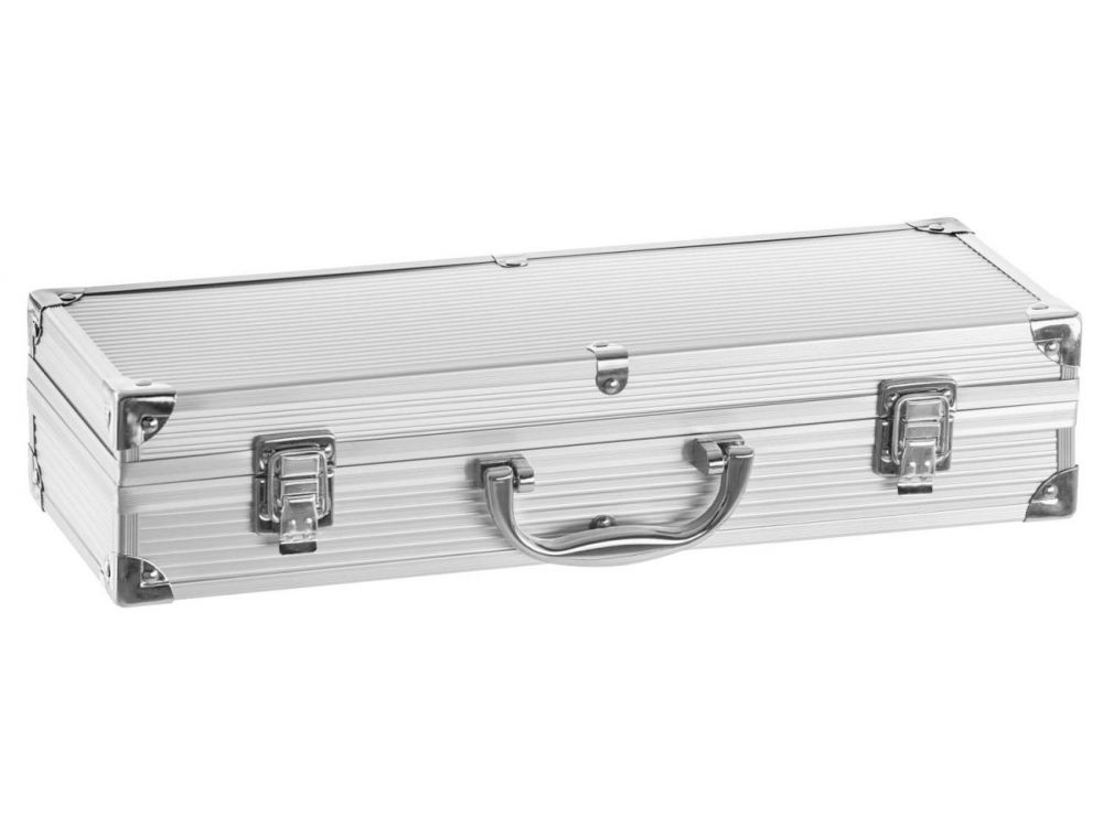 justus profi grillbesteck 4 teilig alu koffer kaufen. Black Bedroom Furniture Sets. Home Design Ideas
