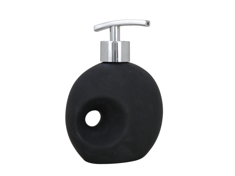 Keramik Seifenspender Hole, black