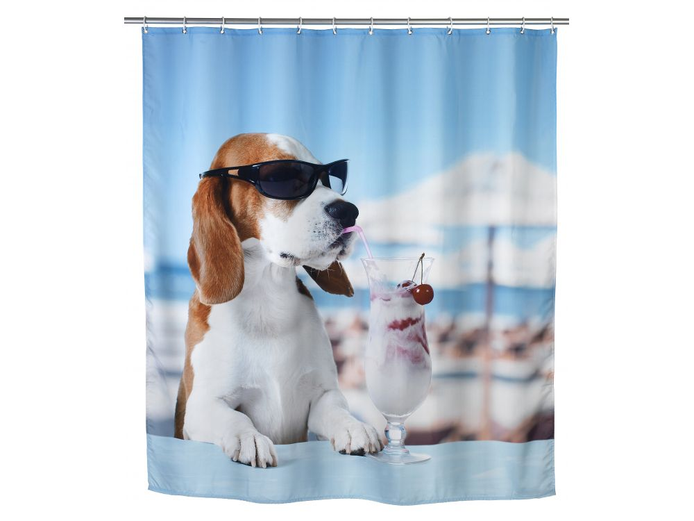 Wenko duschvorhang polyester cool dog kaufen - Coole duschvorha nge ...
