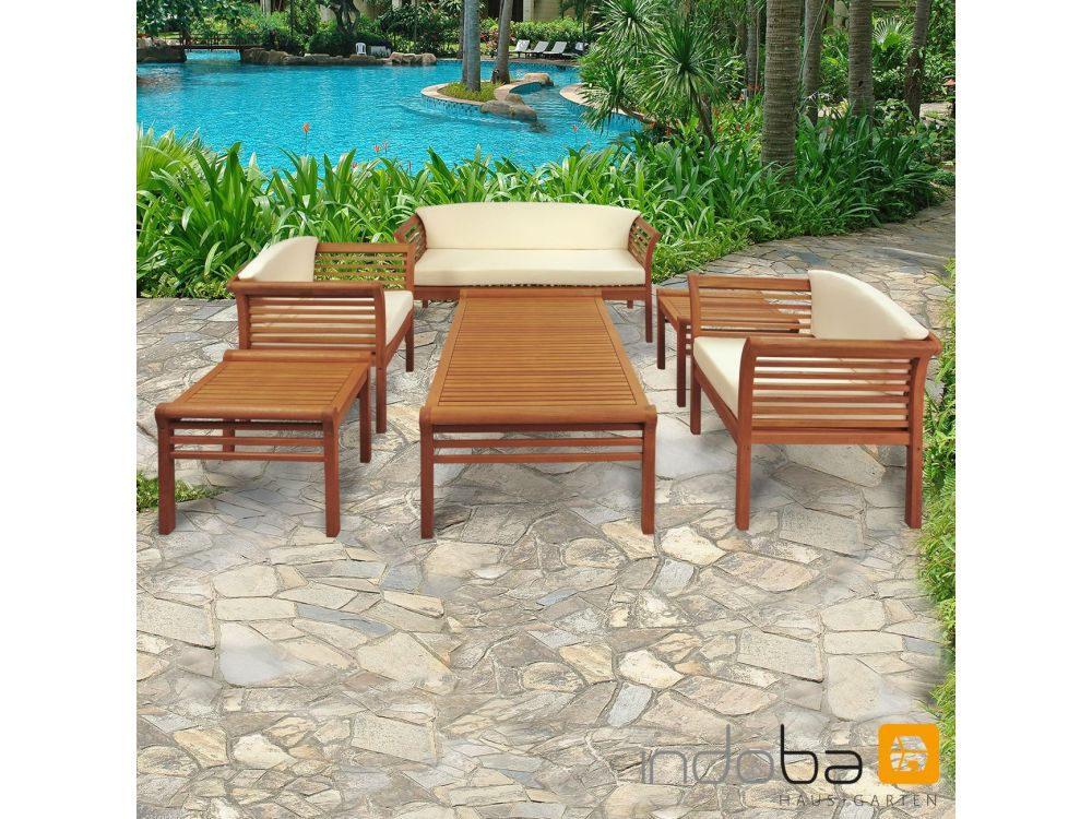 gartenm bel set 6teilig samoa gartenset kaufen. Black Bedroom Furniture Sets. Home Design Ideas