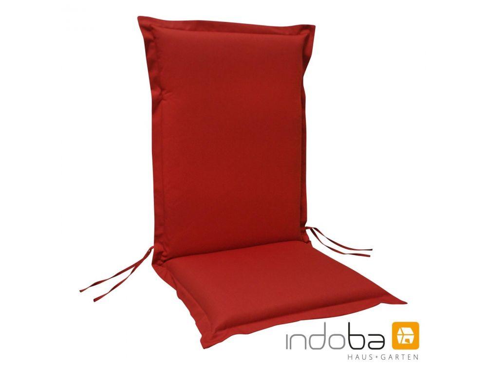 Sitzauflage Hochlehner Premium Extra Dick Rot